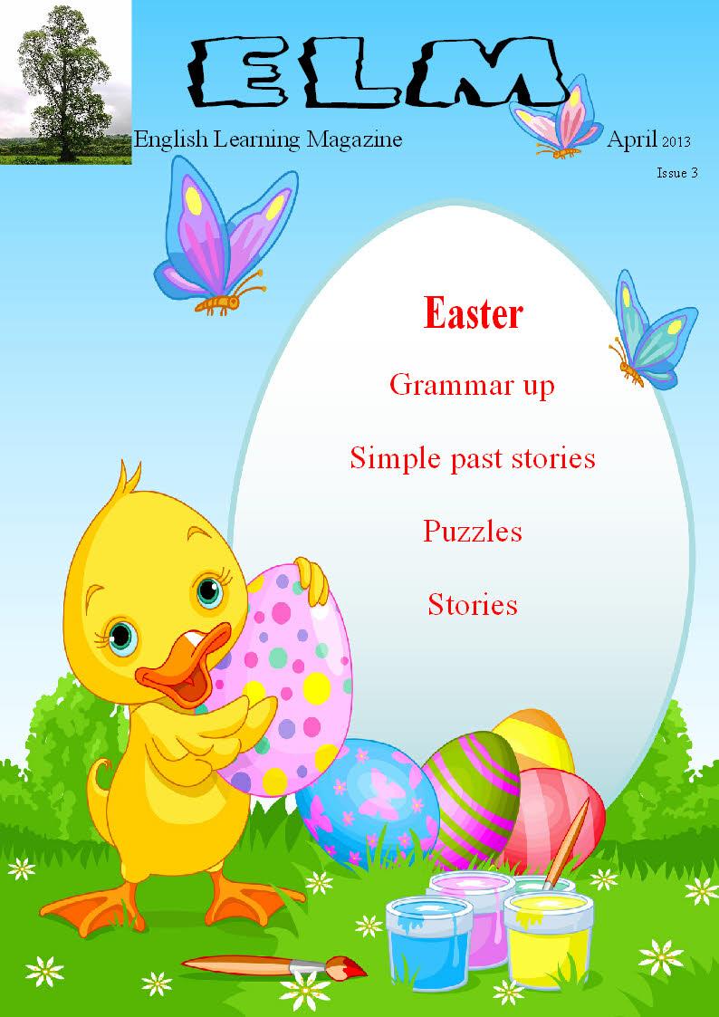 English learning magazine Easter