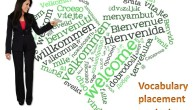 Vocabulary placement test