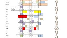 Irregular verbs colour crossword