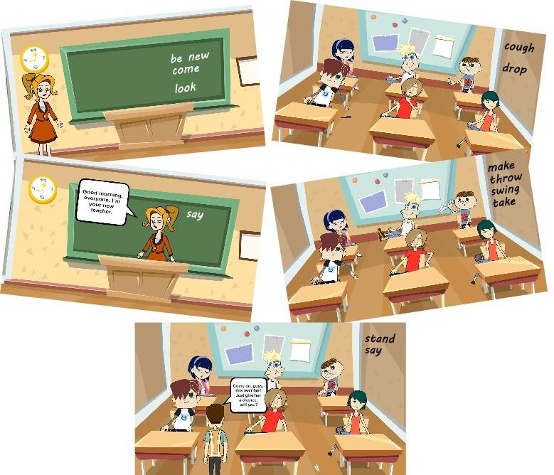 Irregular verbs in context teacher story