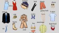 Clothes vocabulary infographic