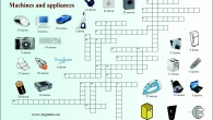 Machines and appliances vocabulary crossword