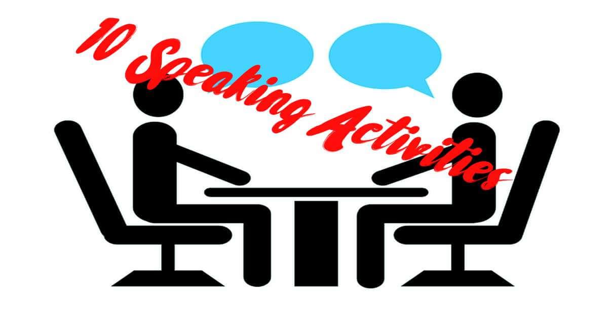 10 speaking activities