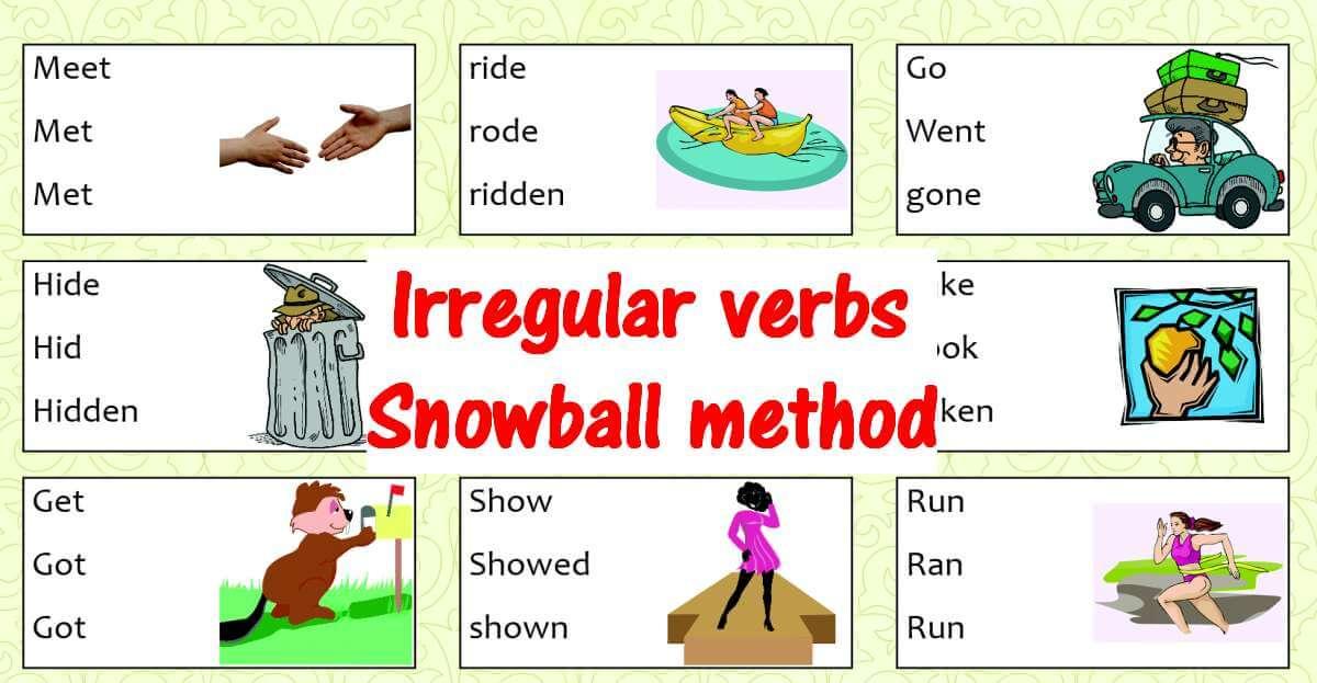 Irregular verbs infographic part 1 fb