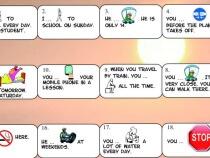 Modal verbs board game fb