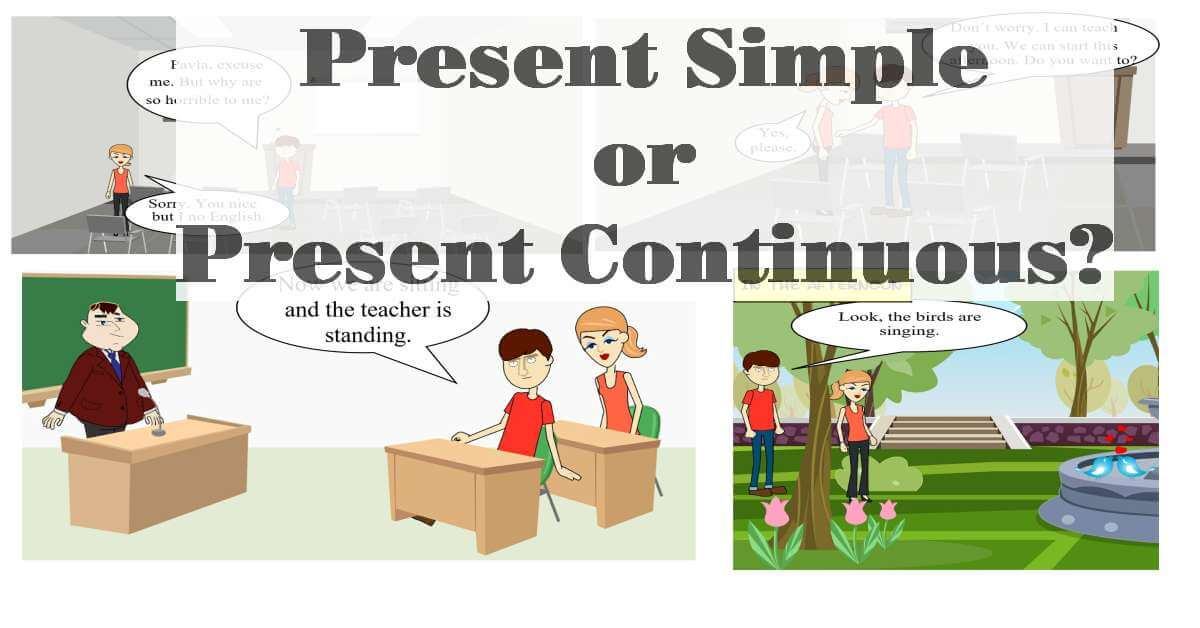 Present continuous comic1 fb