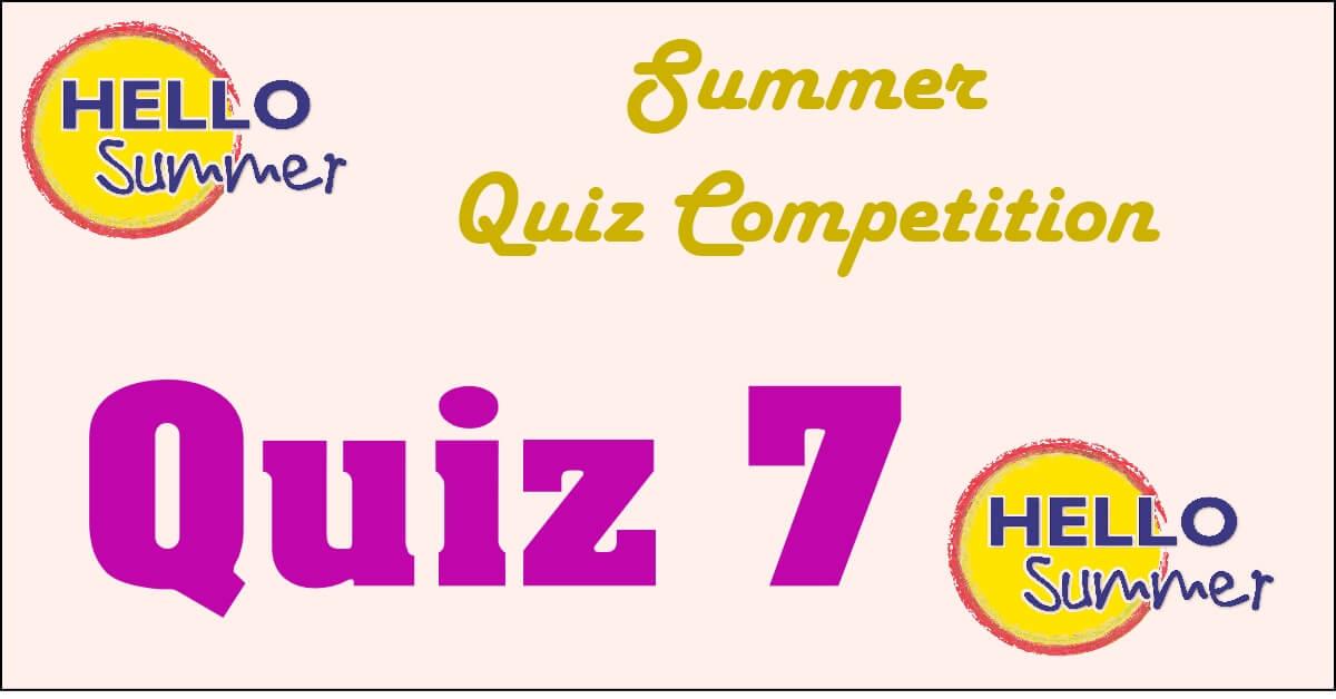 Competition quiz 7
