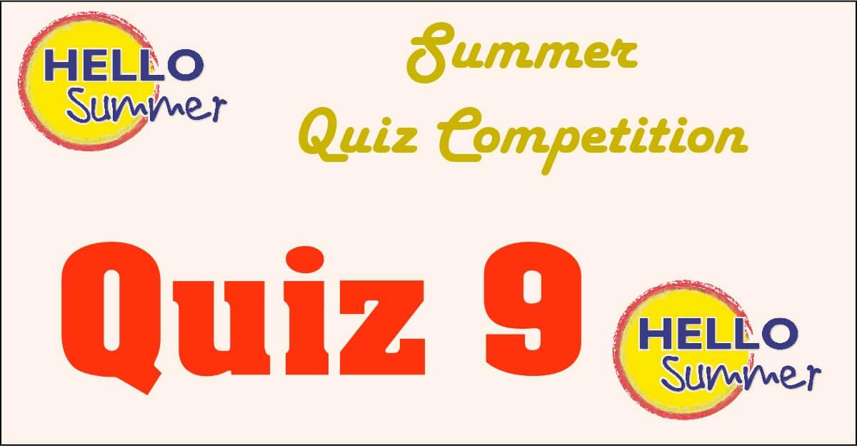 Competition quiz 9