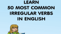 Learn 50 irregular verbs in English