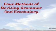 Be wise and revise four methods of revising Grammar and vocabulary