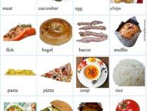 Food vocabulary pictionary