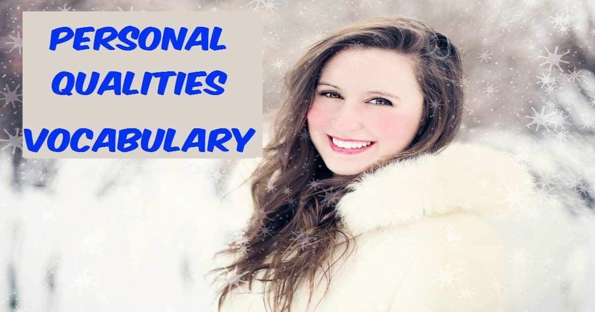 Personal Qualities Vocabulary