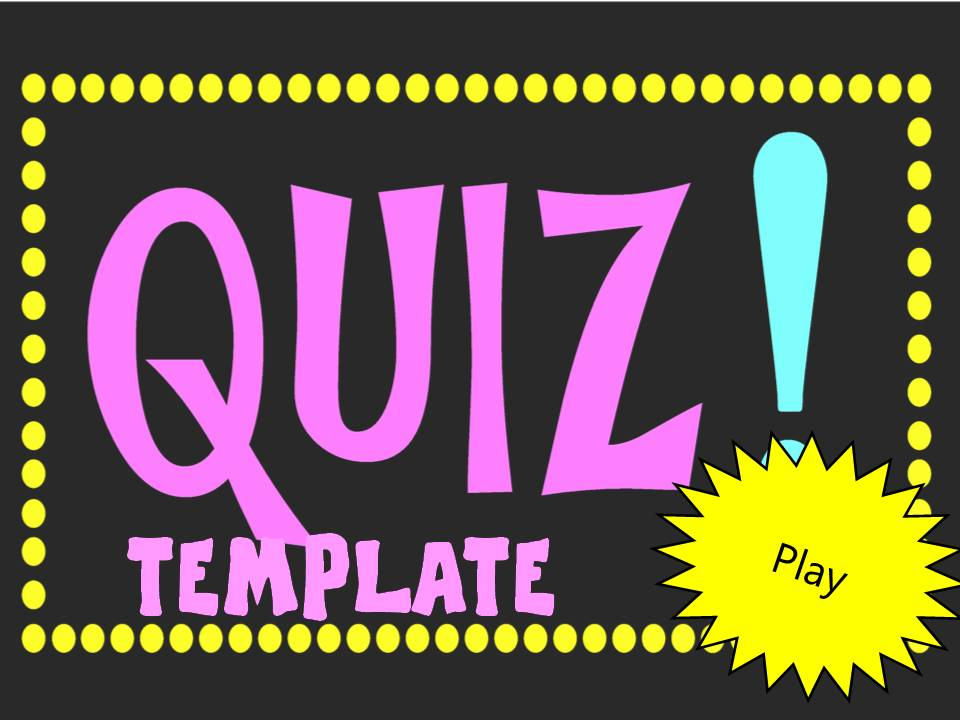 Powerpoint Quiz Template Games To Learn English Games To