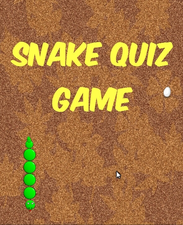 Snake Quiz game template