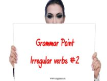 Grammar point Irregular verbs 2 feature image
