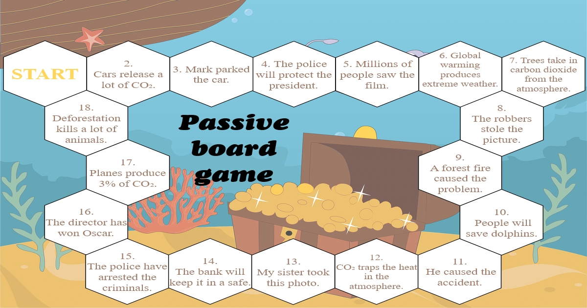 Passive voice board game