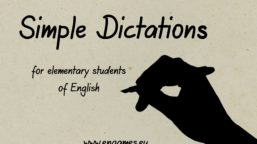 Simple dictations for students