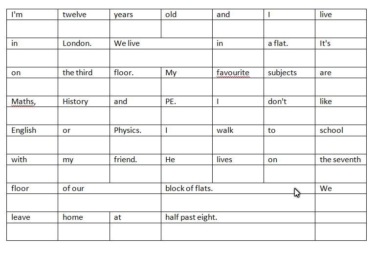 Translation table