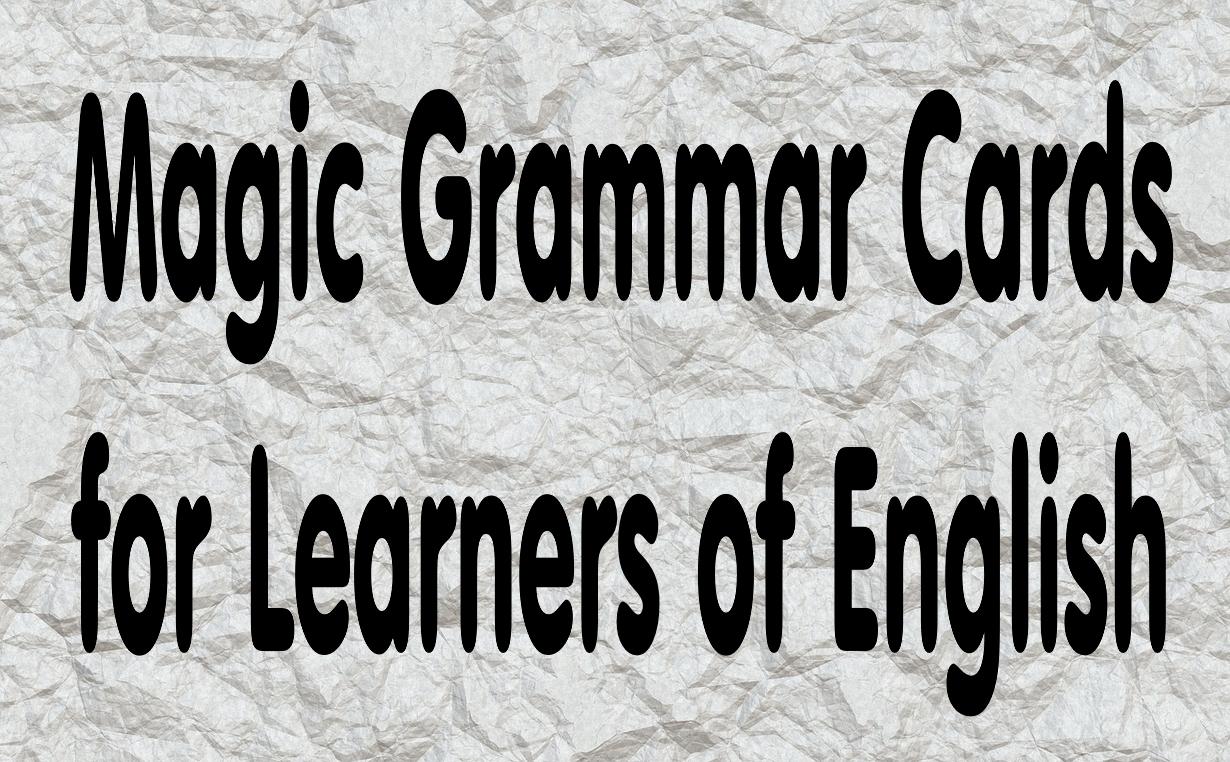 Magic Grammar Cards