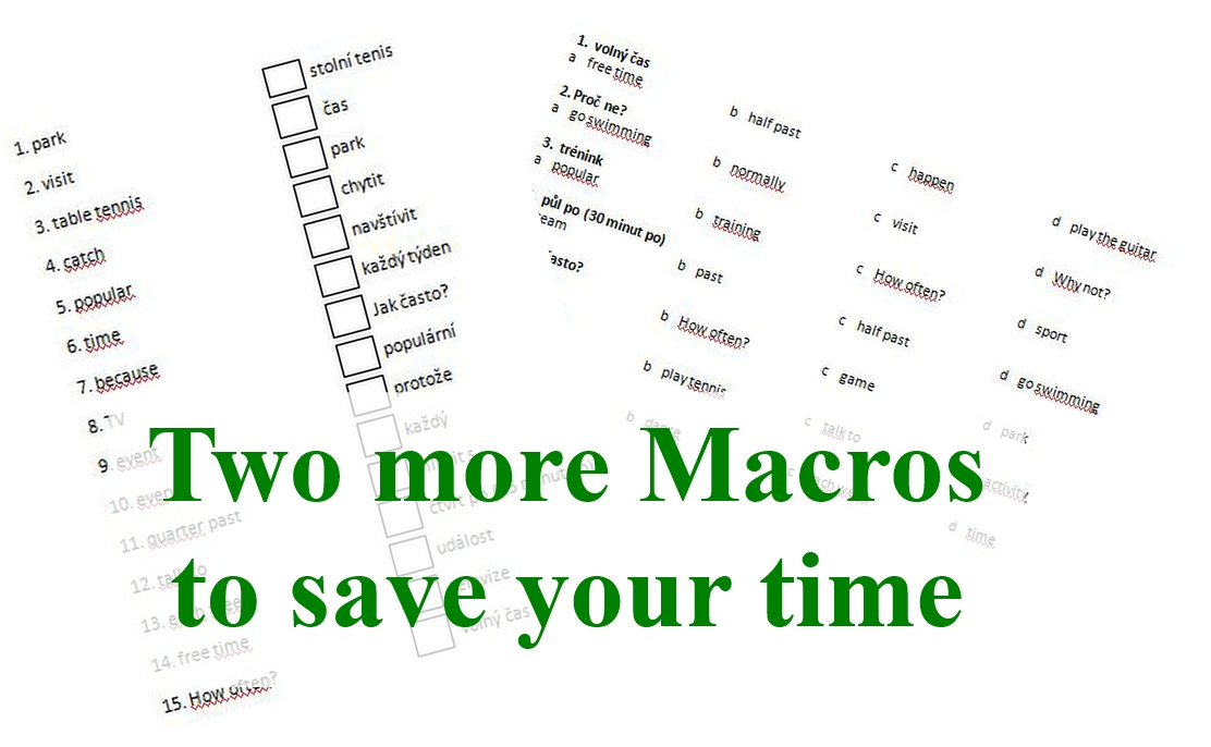 Two more Microsoft Word Macros to save your time